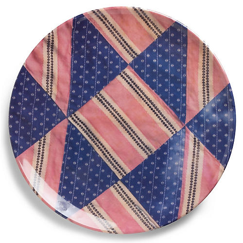 S/4 Dakota Dinner Plates, Pink/Multi
