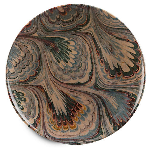 S/4 Wilde Dinner Plates, Blue/Multi