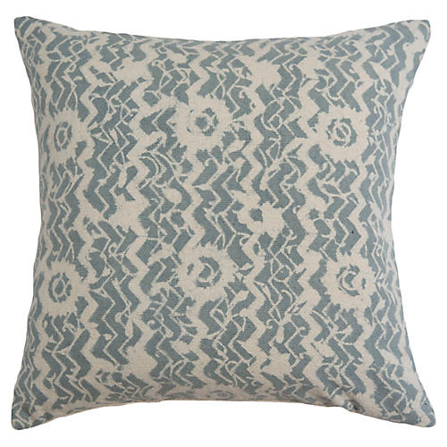 Phool 22x22 Pillow, Light Blue