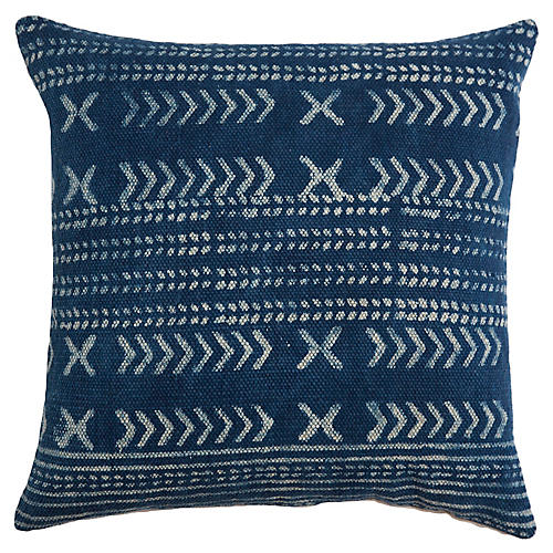 Shibori 22x22 Pillow, Indigo