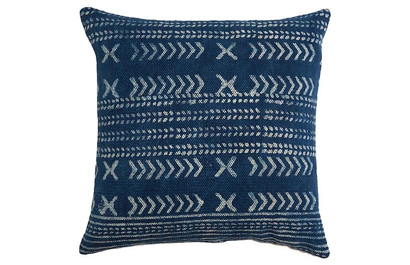 Shibori 22x22 Pillow, Indigo