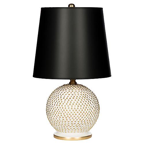 Mini Ball Table Lamp, White/Black