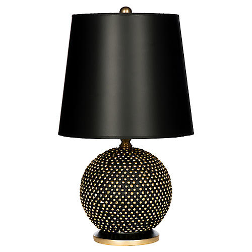 Mini Ball Table Lamp, Black/Gold