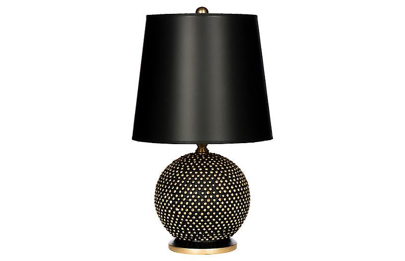 Mini Ball Table Lamp, Black/Gold
