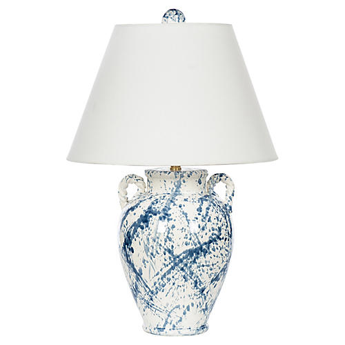 Splash Jar Table Lamp, Blue Splash