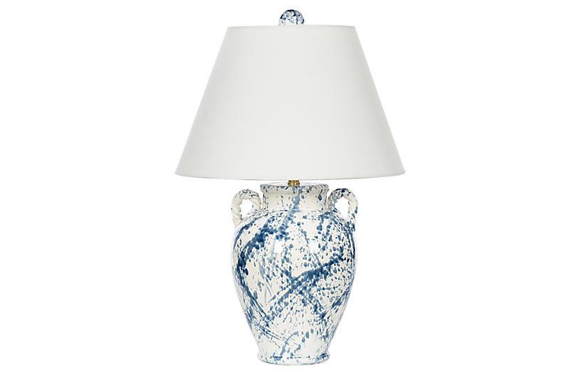 Splash Jar Table Lamp, Blue Splash