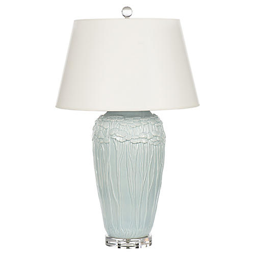 Summer Clouds Table Lamp, Light Blue