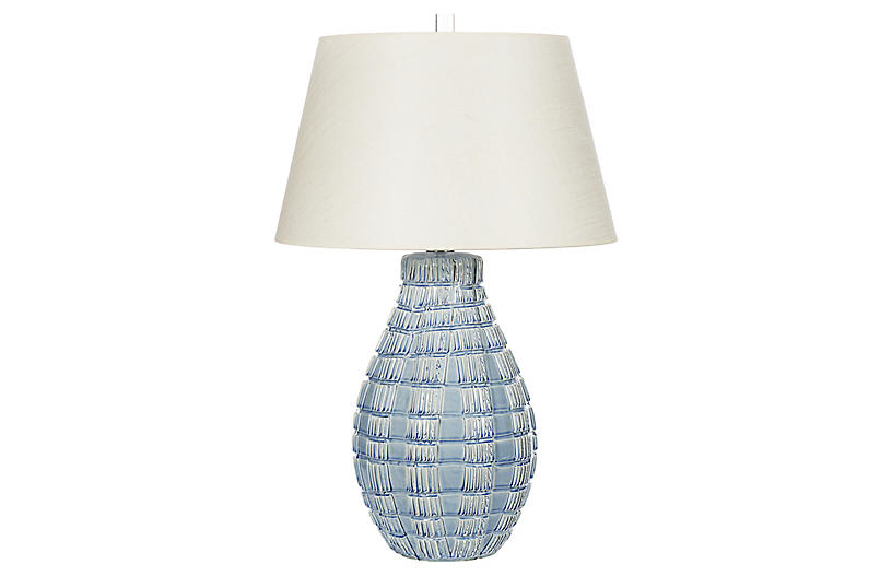 Winward Table Lamp, Blue