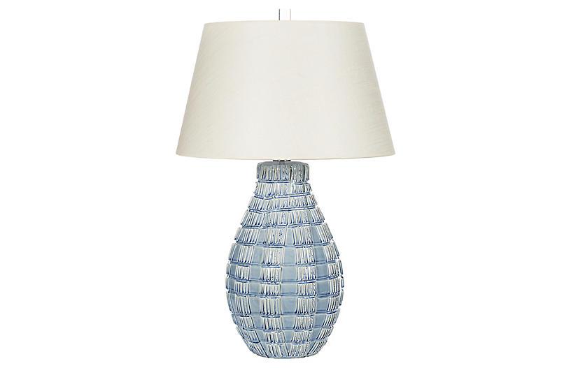 Winward Table Lamp, Blue