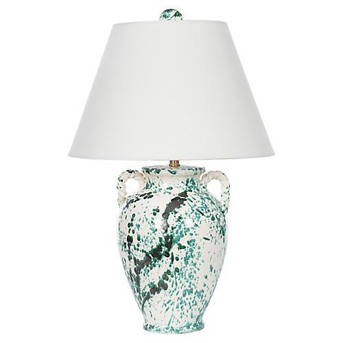 Splash Jar Table Lamp, Green Splash