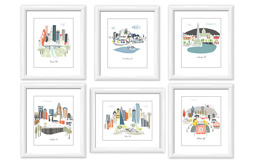 Albie Designs, Big Cities Gallery Wall