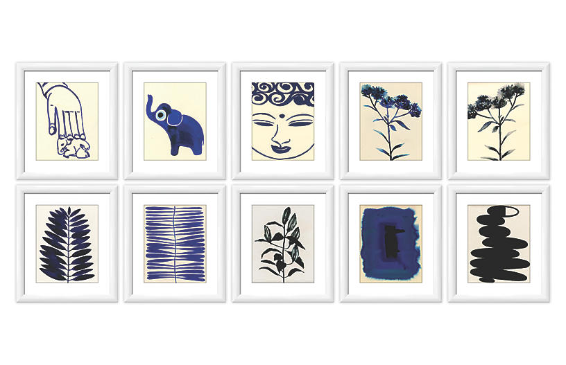 As Collective, Blues & Black Gallery Wall