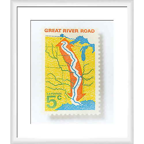 Leslee Mitchell, Great River Road Stamp