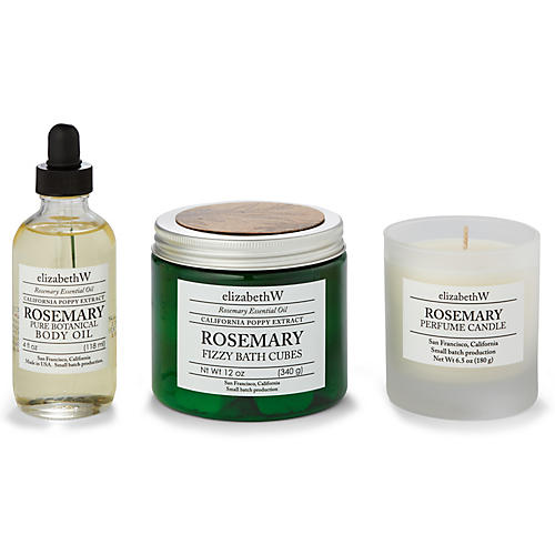 Rosemary Bath Set, Natural/Green