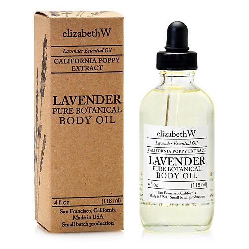 Lavender Body Oil, Clear
