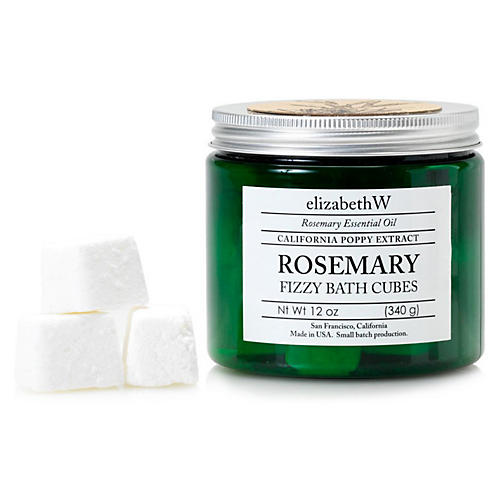 Rosemary Fizzy Bath Cubes, Green