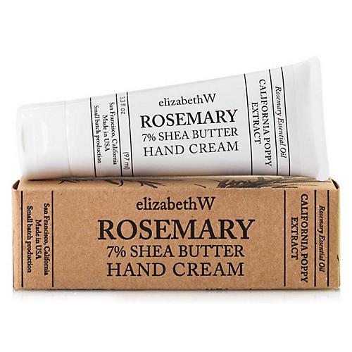 Rosemary Shea Butter Hand Cream, White