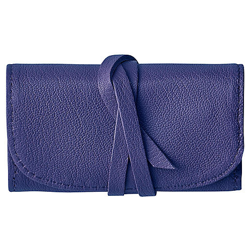 Treasures Jewelry Roll, Indigo