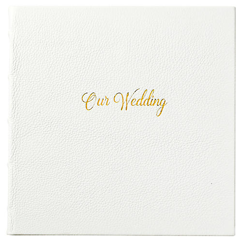 Our Wedding Journal, White/Gold