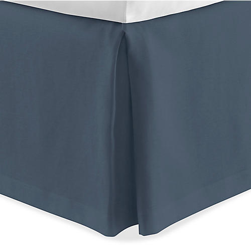 Mandalay Tailored Bed Skirt, Navy