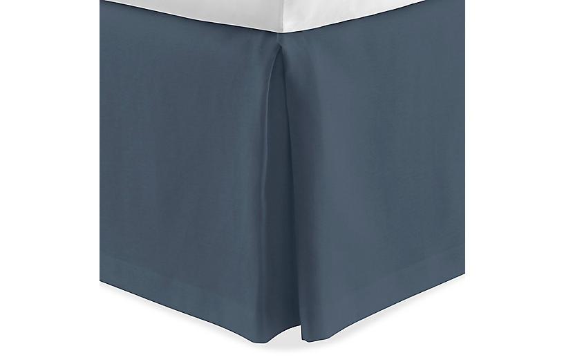 Mandalay Tailored Bed Skirt, Navy
