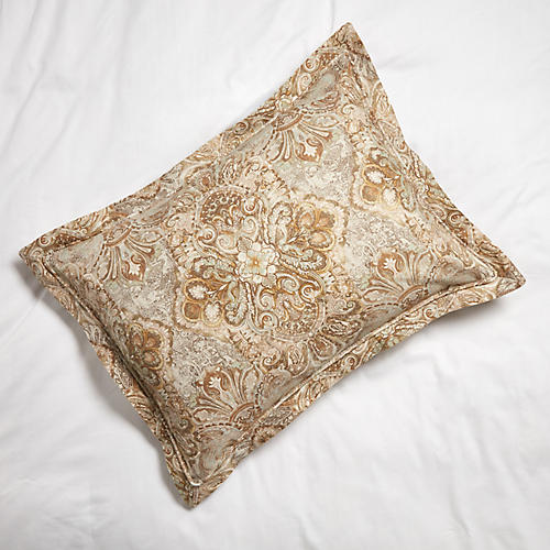 Baroque Grand Euro Sham, Linen