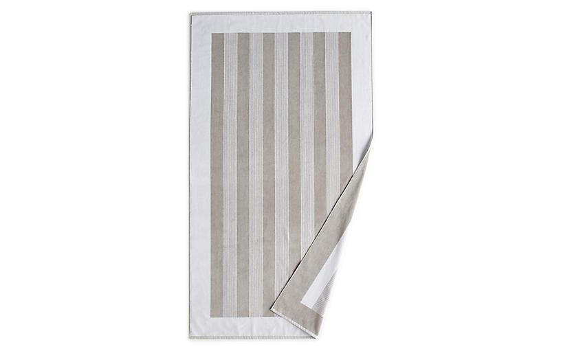 Soleil Beach Towel, White