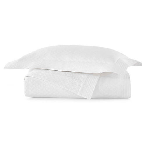 Alyssa Matelassé Coverlet Set, White