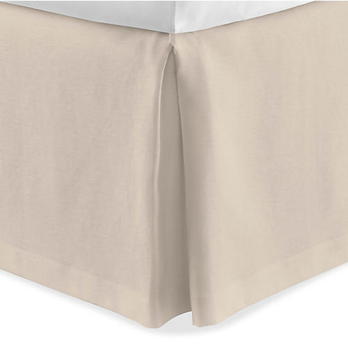 Mandalay Tailored Bed Skirt, Linen