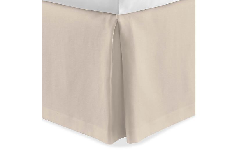 Mandalay Tailored Bed Skirt, Linen