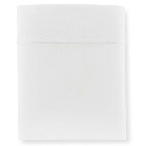 Mandalay Cuff Flat Sheet, White