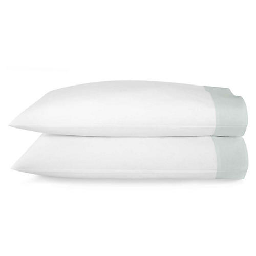 S/2 Mandalay Cuff Pillowcases, Lagoon