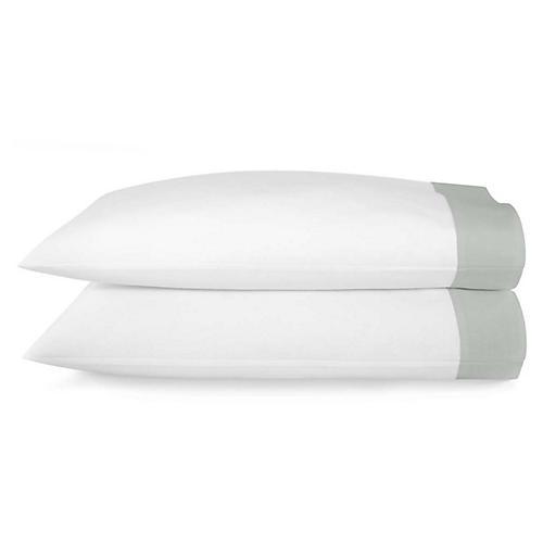 S/2 Mandalay Cuff Pillowcases, Mist