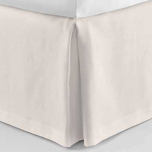 Mandalay Tailored Bed Skirt, Blush