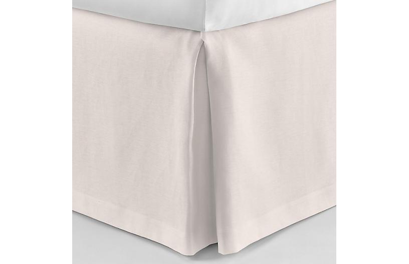 Mandalay Tailored Bed Skirt, Blush