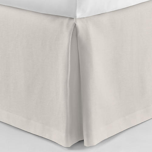 Mandalay Tailored Bed Skirt, Platinum