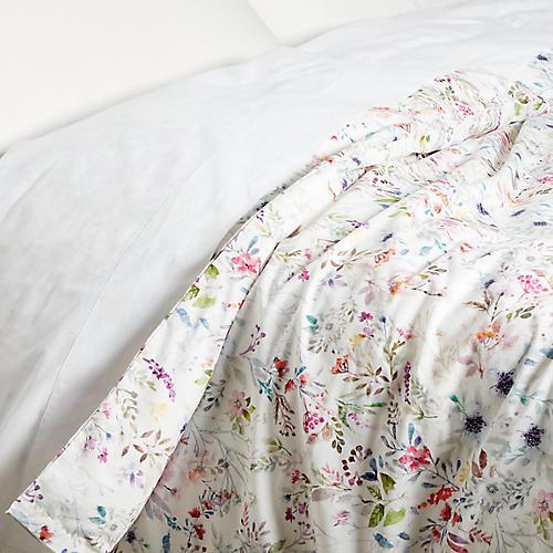 Chloe Duvet Cover, White/Multi