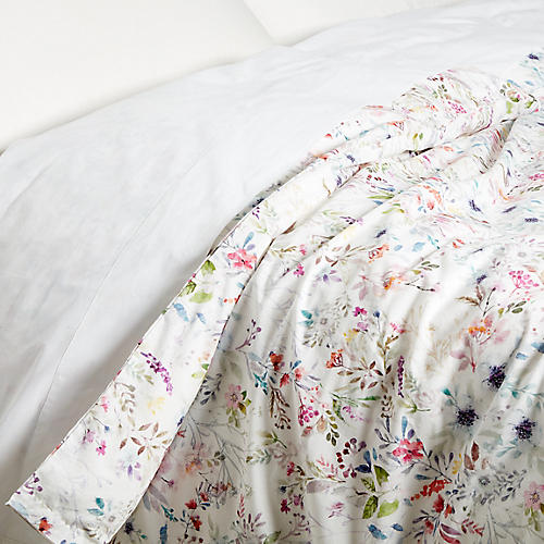 Chloe Duvet Cover, White/Multi