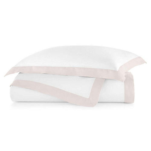 Mandalay Cuff Duvet Cover, Blush