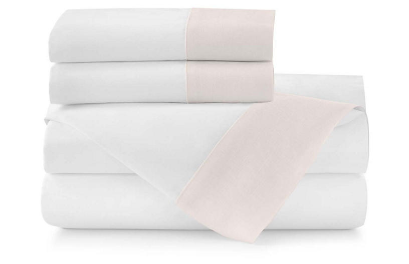 Mandalay Cuff Sheet Set, Blush