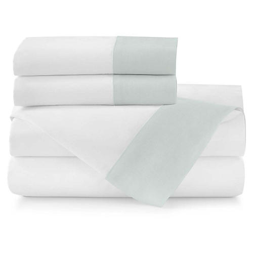 Mandalay Cuff Sheet Set, Lagoon