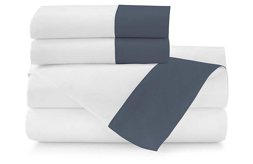 Mandalay Cuff Sheet Set, Navy