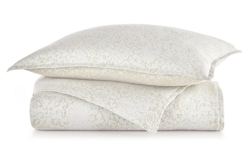 Avalon Duvet Cover, Platinum