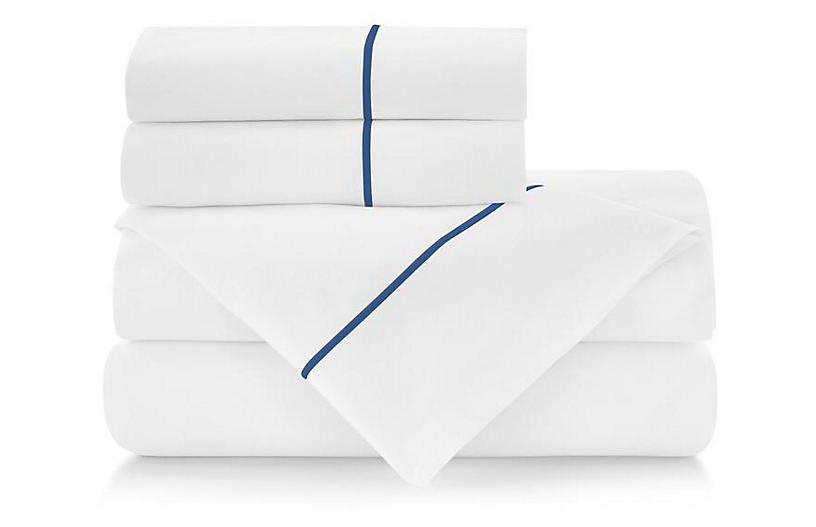 Classic Line Sheet Set, Hamptons Blue