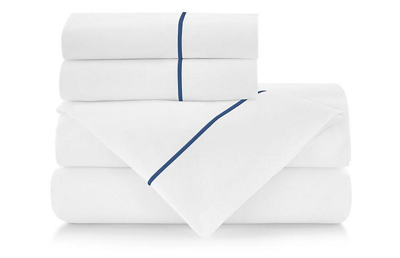 Classic Line Sheet Set, Hamptons Blue