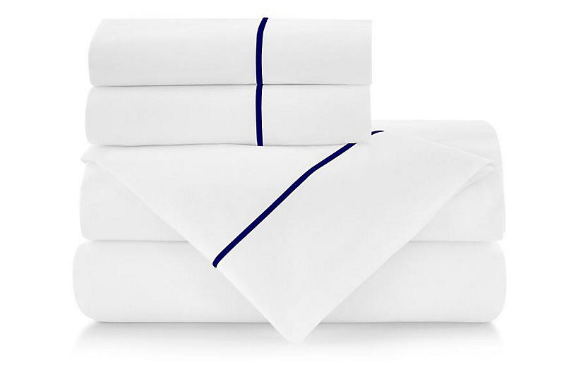 Classic Line Sheet Set, Navy