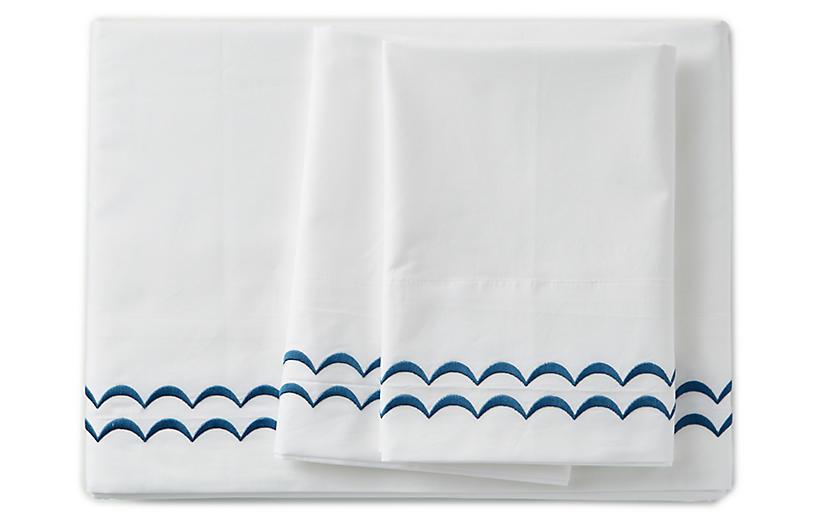 Rosemary Sheet Set, Hamptons Blue
