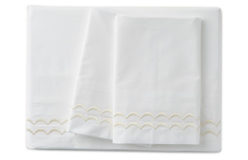Rosemary Sheet Set, Ivory