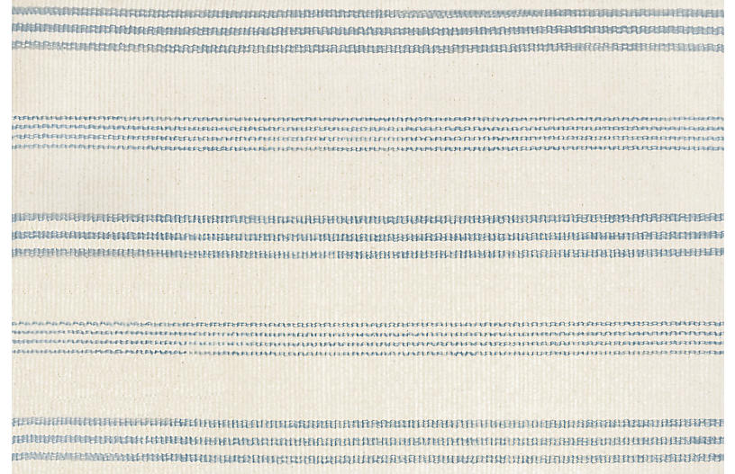 Swedish Stripe Handwoven Rug, Cornflower Blue