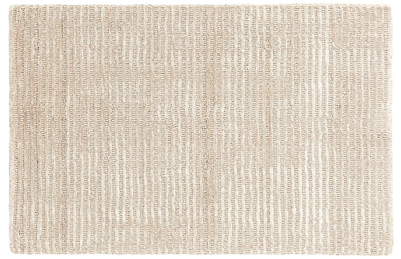 Cut Stripe Hand-Knotted Rug